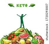 ketogenic diet illustration... | Shutterstock .eps vector #1720293007