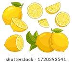 lemon vector. citrus lemon...   Shutterstock .eps vector #1720293541