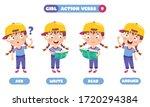 action verbs for children...   Shutterstock .eps vector #1720294384
