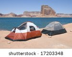 camping at the lake | Shutterstock . vector #17203348