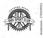 bmx extreme sport club badge....   Shutterstock .eps vector #1720339921