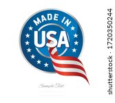 made in usa flag ribbon quality ... | Shutterstock .eps vector #1720350244