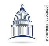 vector capitol building icon  | Shutterstock .eps vector #172036304