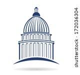 vector capitol building icon  | Shutterstock .eps vector #172036304