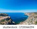 Panoramic Seascape  Calm Azure...