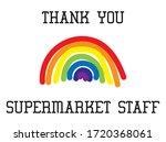 thank you supermarket staff...   Shutterstock .eps vector #1720368061