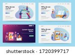 set of web page design... | Shutterstock .eps vector #1720399717