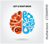 creative left brain and right... | Shutterstock .eps vector #172040945