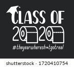 seniors class of 2020 lettering ... | Shutterstock .eps vector #1720410754