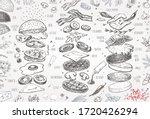 burger menu. vintage template... | Shutterstock .eps vector #1720426294
