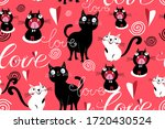 seamless funny pattern of... | Shutterstock .eps vector #1720430524