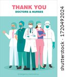 thank you doctors and nurses....   Shutterstock .eps vector #1720492024