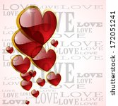 abstract glossy heart on white  ... | Shutterstock .eps vector #172051241