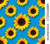 Sunflowers Flowers Seamless...