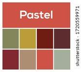 2020 colors palette. pastel...   Shutterstock .eps vector #1720559971
