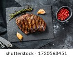 Grilled Flat Iron Steak On A...