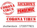 set of red grunge rubber stamp... | Shutterstock .eps vector #1720577821