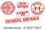 set of red grunge rubber stamp... | Shutterstock .eps vector #1720577827
