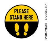 please stand here round floor...   Shutterstock .eps vector #1720582414