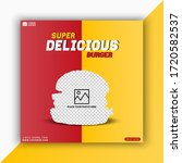 super delicious burger social...   Shutterstock .eps vector #1720582537