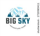 modern emblem outdoor adventure ... | Shutterstock .eps vector #1720585411