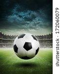 soccer ball on the field of... | Shutterstock . vector #172060079