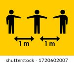 social distancing keep your... | Shutterstock .eps vector #1720602007