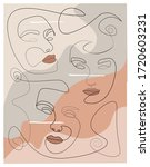 multiple woman face abstract... | Shutterstock . vector #1720603231