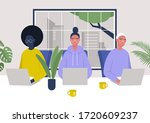 a diverse group of characters... | Shutterstock .eps vector #1720609237