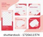 set of editable cute minimalist ... | Shutterstock .eps vector #1720611574