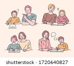the children are studying with...   Shutterstock .eps vector #1720640827