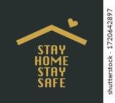 stay home illustration vector... | Shutterstock .eps vector #1720642897