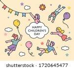happy children's day. cute...   Shutterstock .eps vector #1720645477