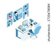 isometric burnout concept ... | Shutterstock .eps vector #1720678084