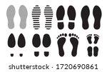 footprints human silhouette ... | Shutterstock .eps vector #1720690861