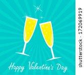 champagne glasses. blue... | Shutterstock .eps vector #172069919