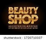 vector gold sign beauty shop...   Shutterstock .eps vector #1720710337