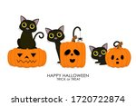 happy halloween greeting card... | Shutterstock .eps vector #1720722874