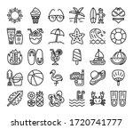 summer outline vector icons... | Shutterstock .eps vector #1720741777