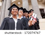 group of happy college...   Shutterstock . vector #172074767