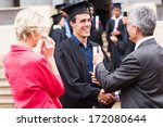 cheerful male graduate... | Shutterstock . vector #172080644