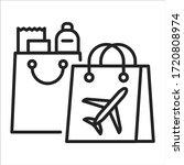 duty free shopping black line...