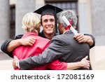 handsome young male graduate... | Shutterstock . vector #172081169