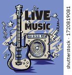 guitar and amplifier live music ... | Shutterstock .eps vector #1720819081