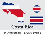 Shape Map And Flag Of Costa...