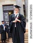 successful female graduate at...   Shutterstock . vector #172082201