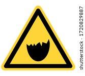 egg shell and danger sign on... | Shutterstock .eps vector #1720829887