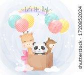 cute animal illustration ... | Shutterstock .eps vector #1720852024