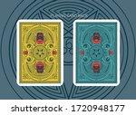 2 satanic card back. decorative ... | Shutterstock .eps vector #1720948177