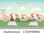 people maintain social... | Shutterstock .eps vector #1720948981